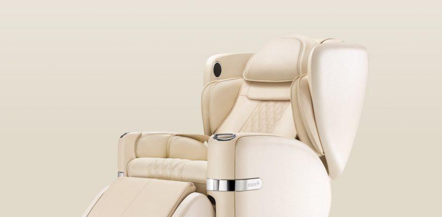white-massage chair