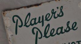 plastic sign board