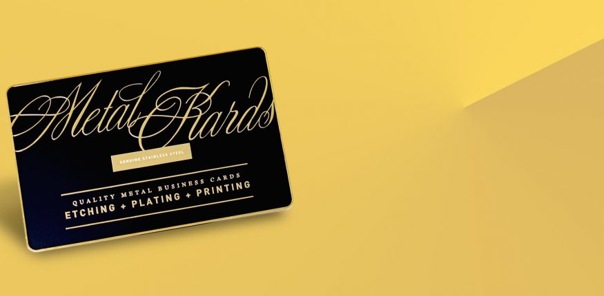 metal business card with qr code